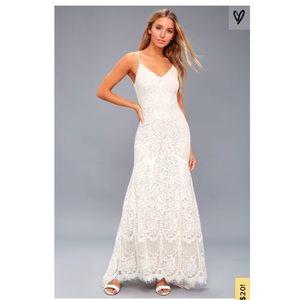 White lace maxi dress Lulu's